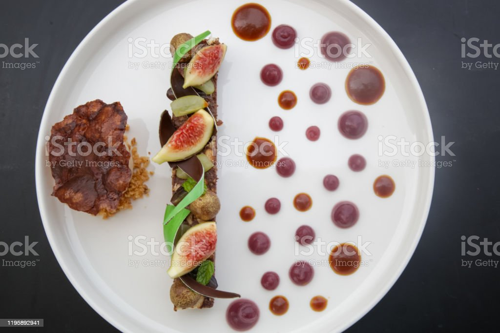 Fancy Modern Dessert On The White Tray Exquisite Dish Creative Restaurant Meal Concept Haute Couture Food Stock Photo Download Image Now Istock