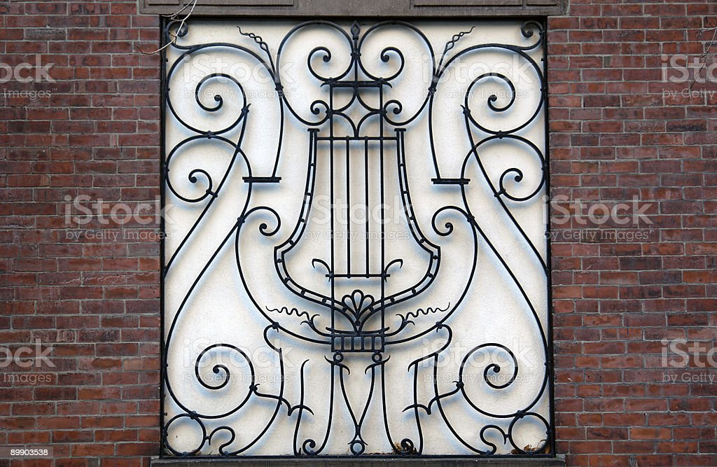 fancy musical iron work royalty-free stock photo