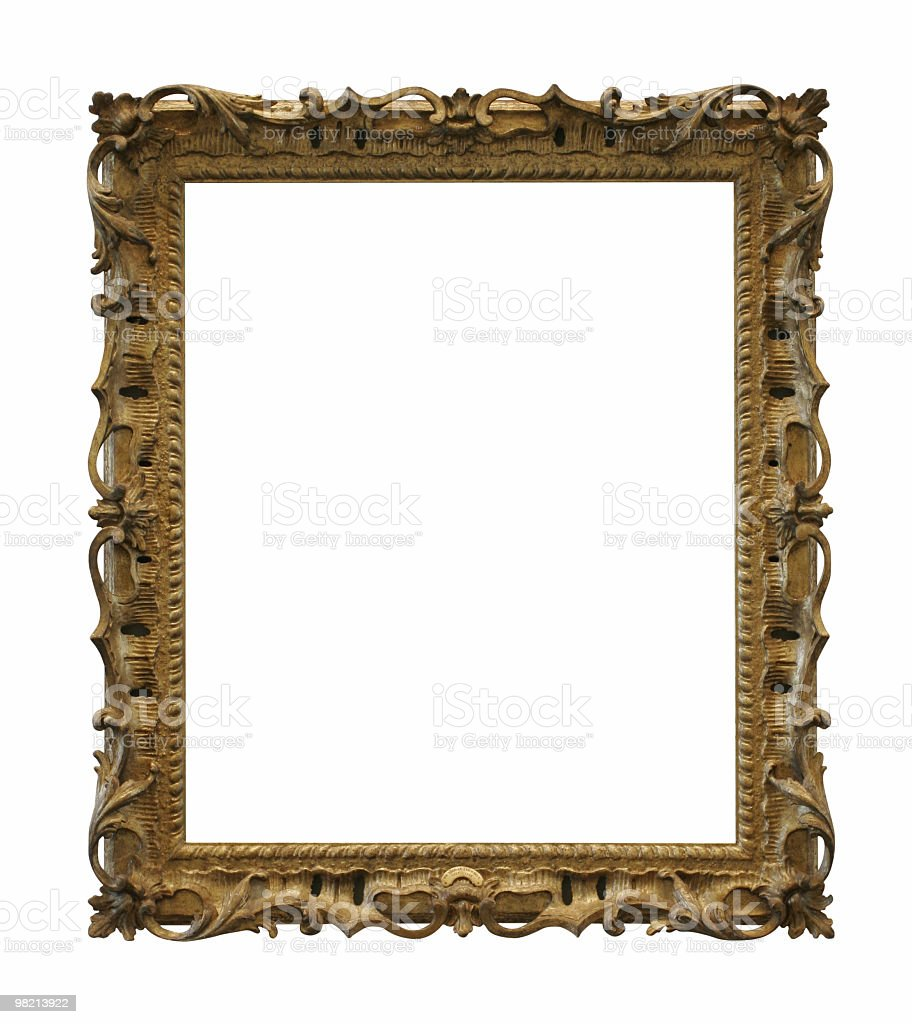 Fancy old frame to use in your design royalty-free stock photo