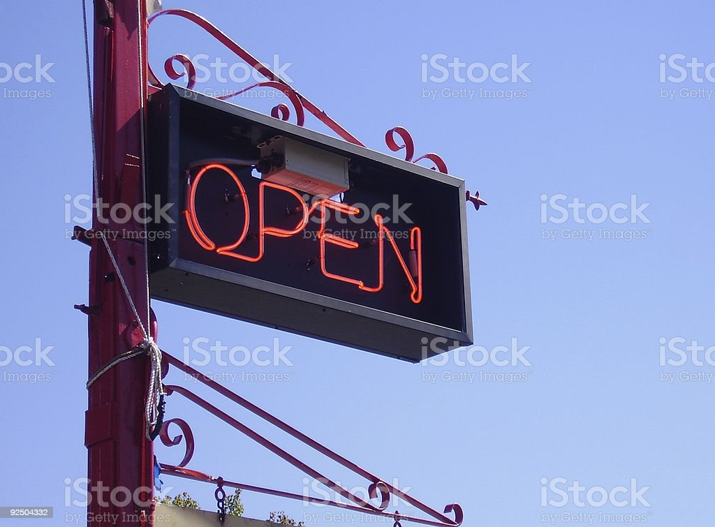 Fancy Open Sign royalty-free stock photo