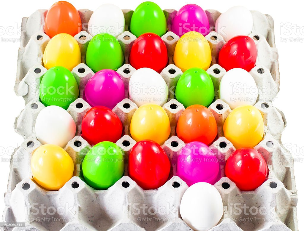fancy or colorful of egg in spawn box stock photo
