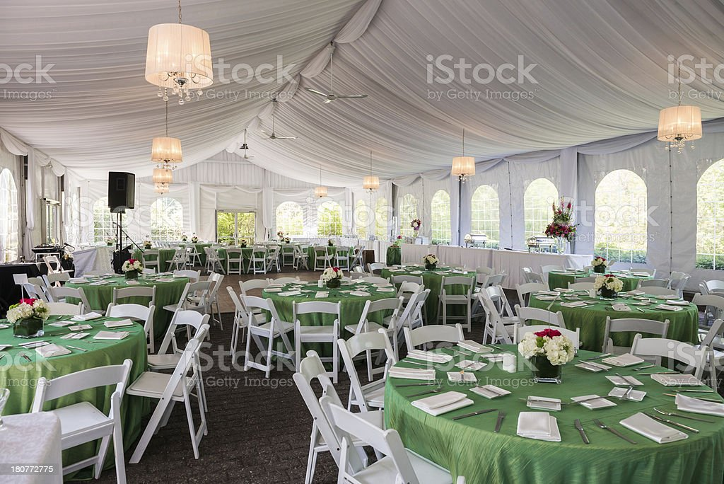 Fancy Outdoor Party Tent stock photo