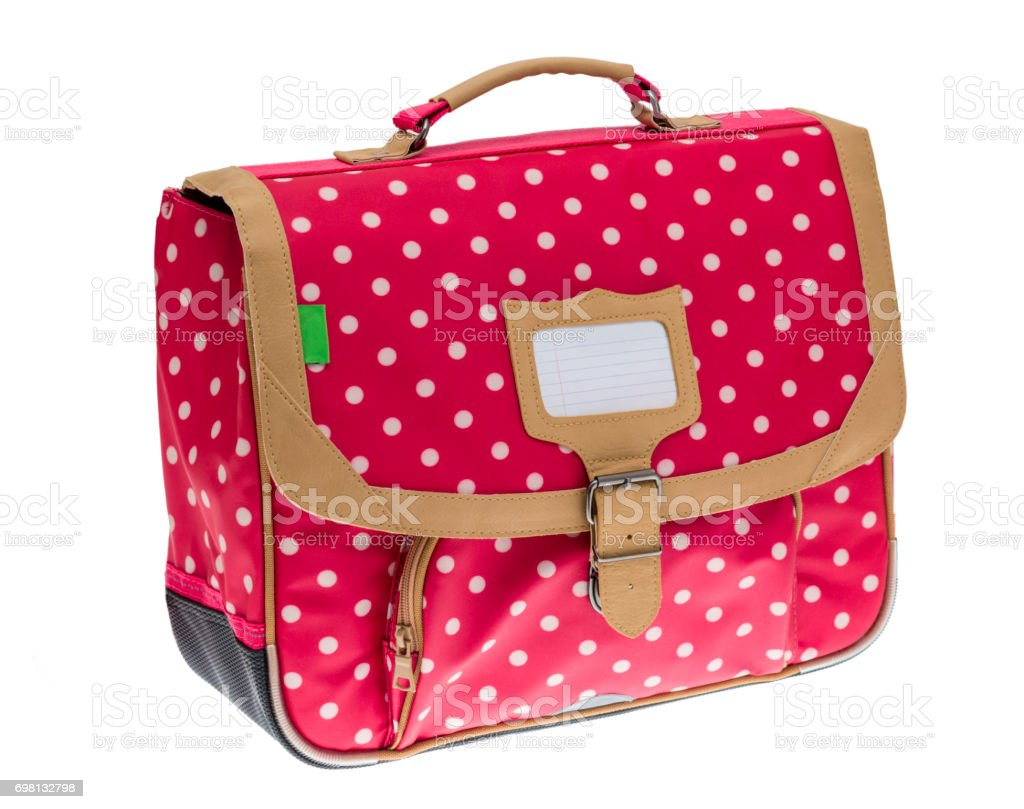 Fancy Red Schoolbag stock photo