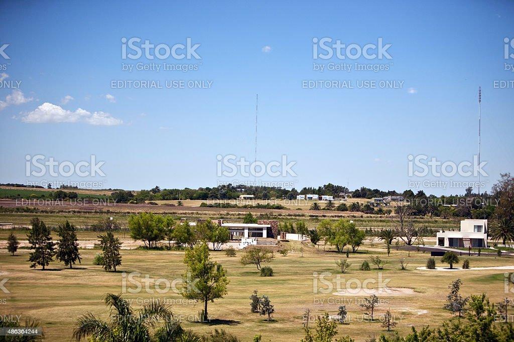 Gosta de casas residenciais em Colonia Del Sacramento, Uruguai foto royalty-free