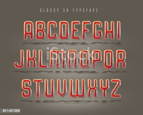 istock Fancy rounded 3d typeface 841467058
