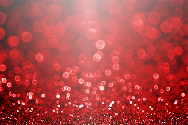 Fancy ruby red Valentine's Day or Christmas glitter sparkle background or party invite stock photo