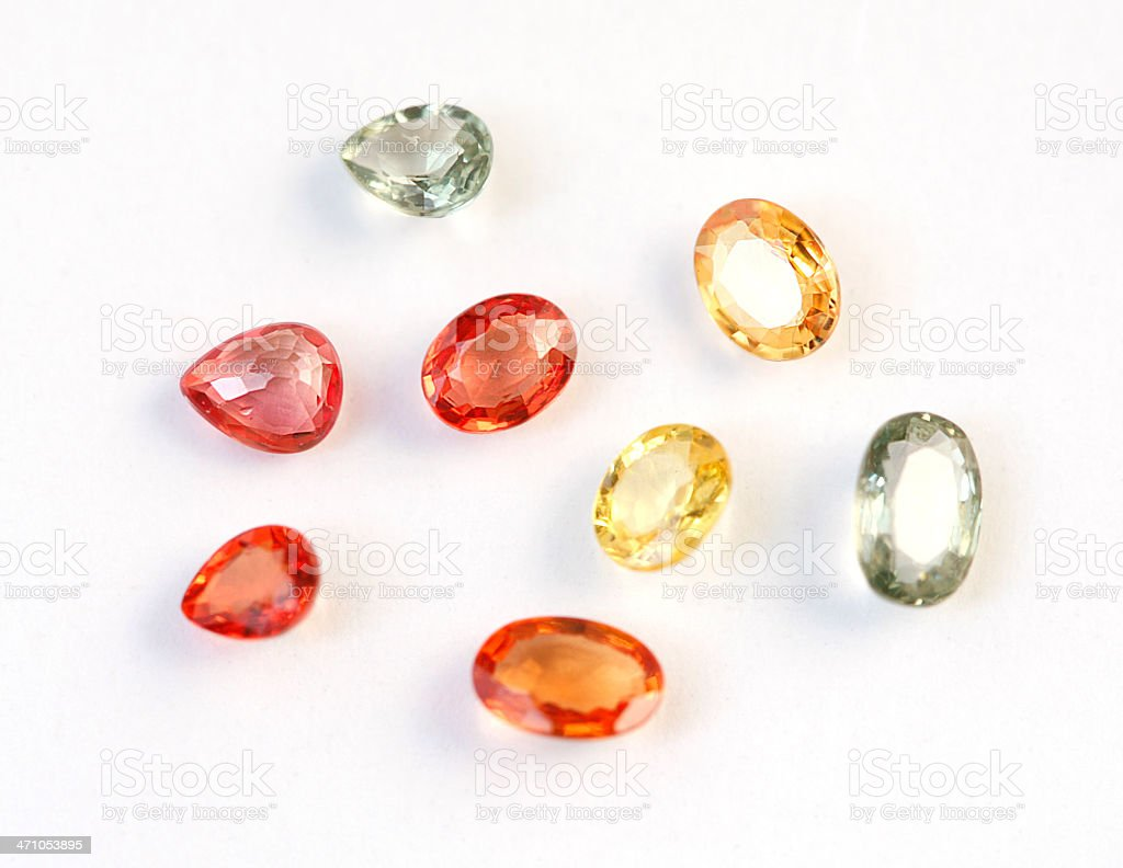Fancy Sapphires stock photo