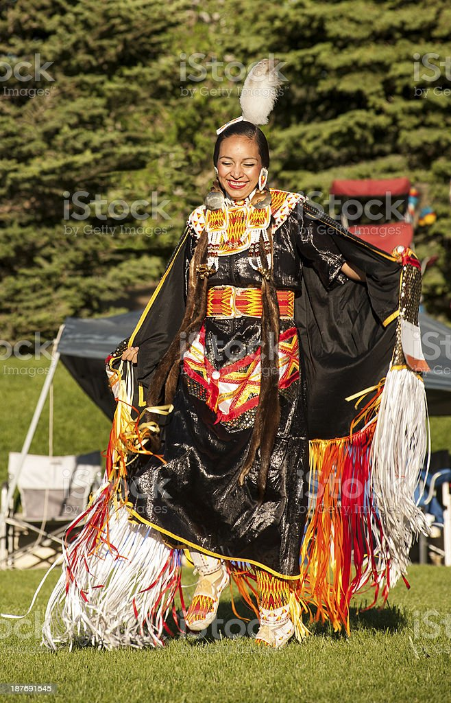 Fancy Shawl Dancer 13 stock photo