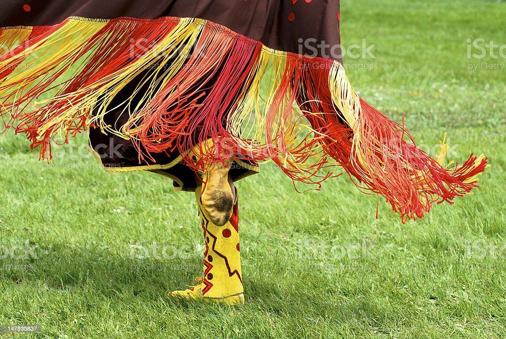 Fancy Shawl Dancer Fringe stock photo