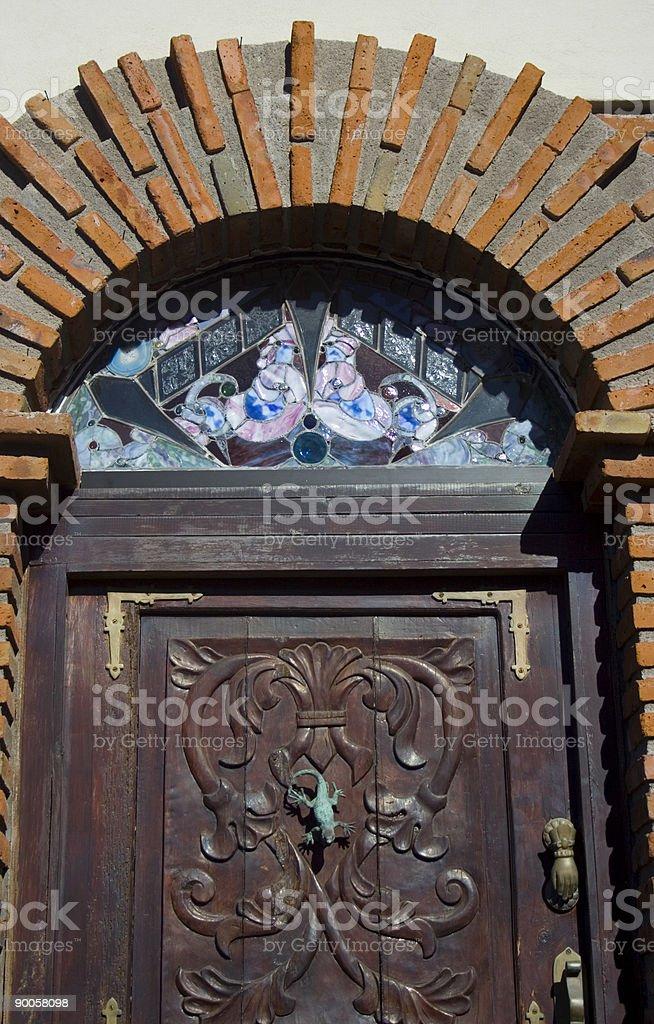 Fancy Spanish Door Detail stock photo