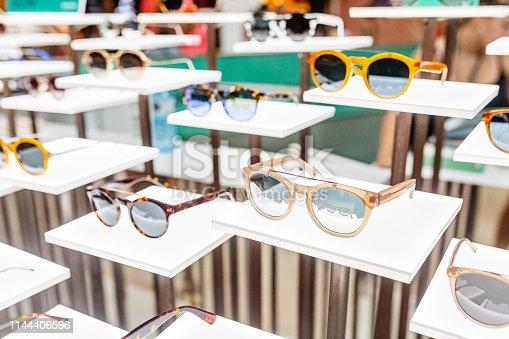 Fancy sunglasses in a shop