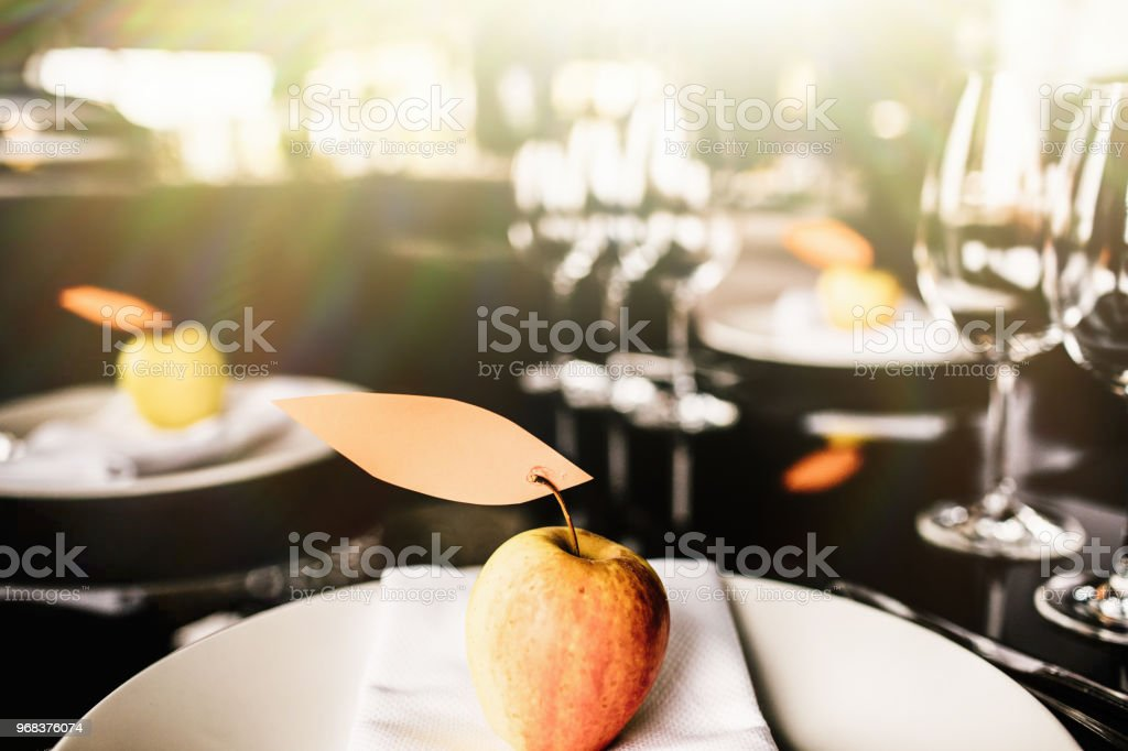 Fancy Table Setting With Wine Glasses At A Elegant Restaurant Stock Photo Download Image Now Istock