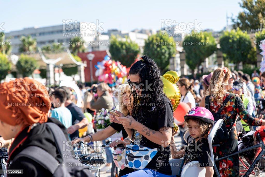 Fancy Women Bike Ride Stock Photo Download Image Now Istock