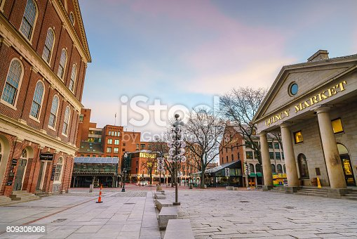 istock Faneuil Hall and the Boston skyline 809308066