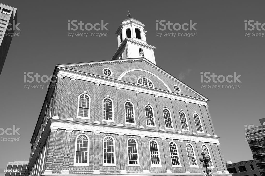 Faneuil Hall Boston stock photo