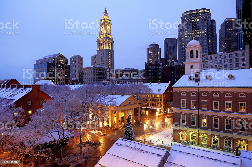 Faneuil Hall in Boston stock photo