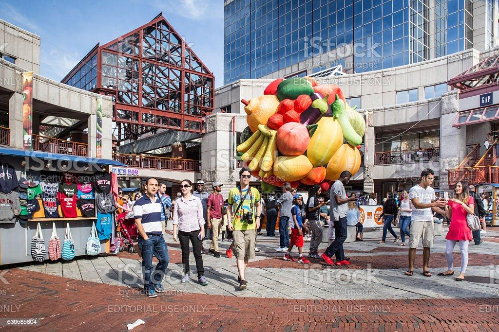 Faneuil Hall Quincy Market Boston MA stock photo