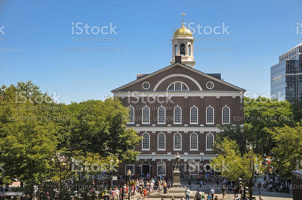 Faneuil Hall-West Face stock photo