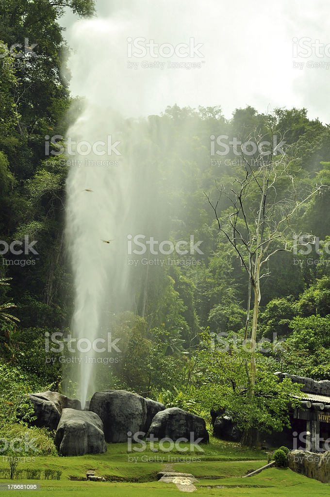 Fang de Hot Springs (géiser del Chiang Mai) foto de stock libre de derechos
