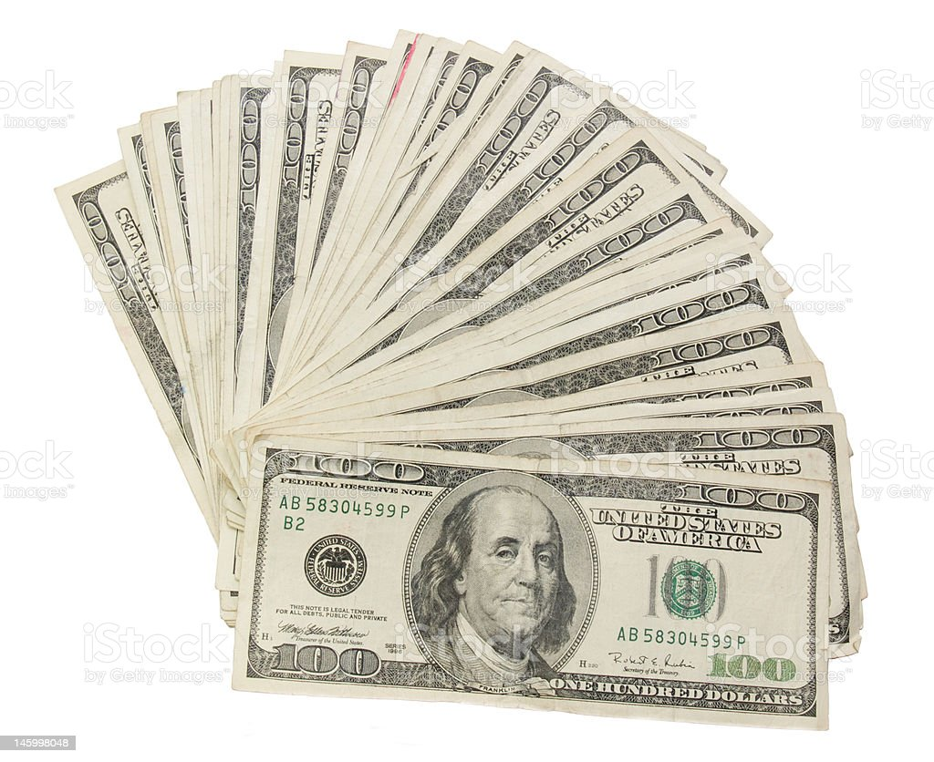 Fanned Cash stock photo