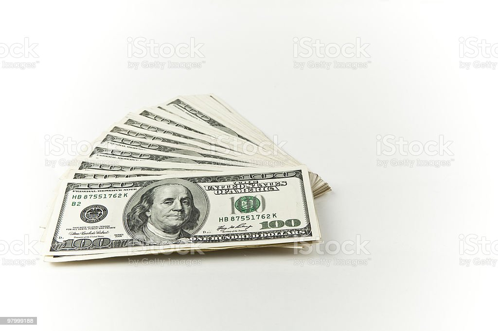 fanned money royalty-free stock photo