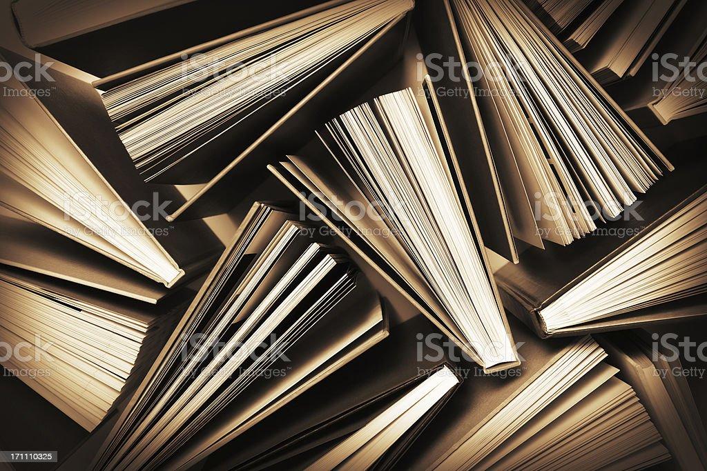 Aufgefächert Bücher Muster – Foto