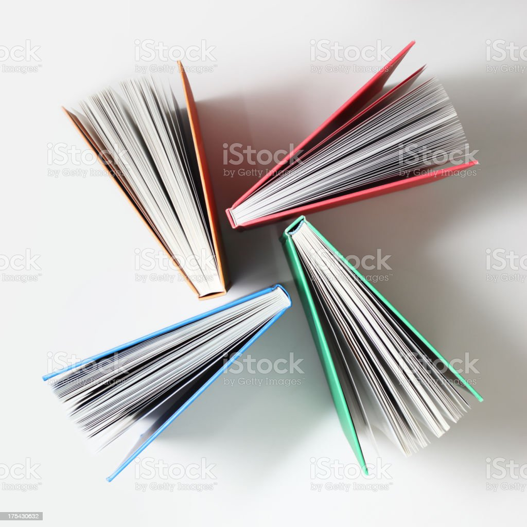 Fanned Out Books royalty-free stock photo
