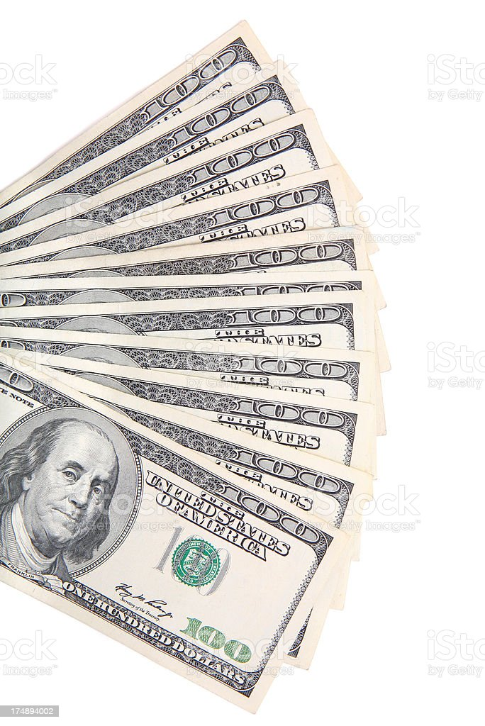Fanned Out Money stock photo