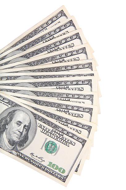 Aufgefächert Geld – Foto