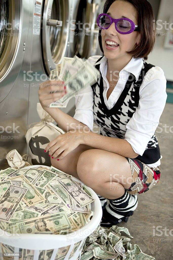 Fanning With Money stock photo
