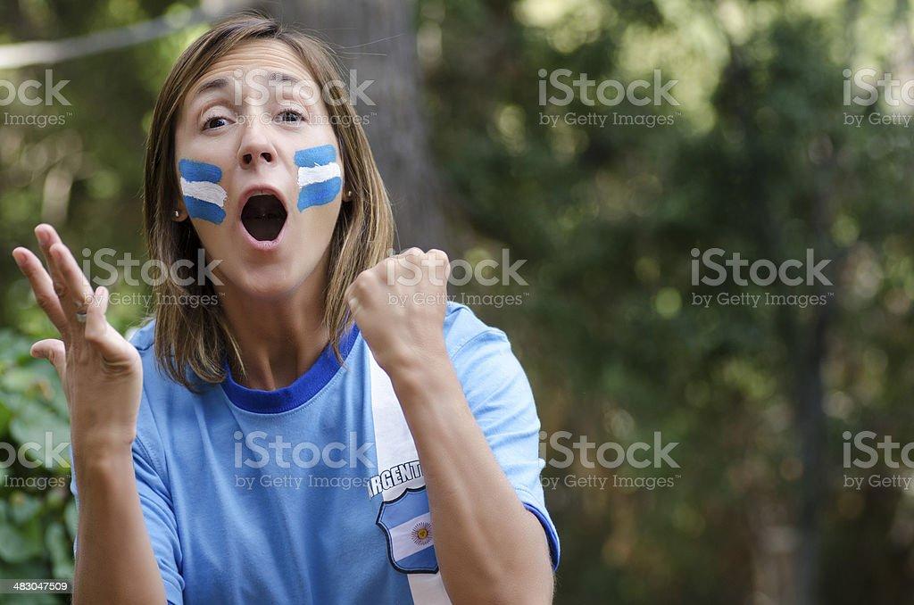 Fans Argentina stock photo
