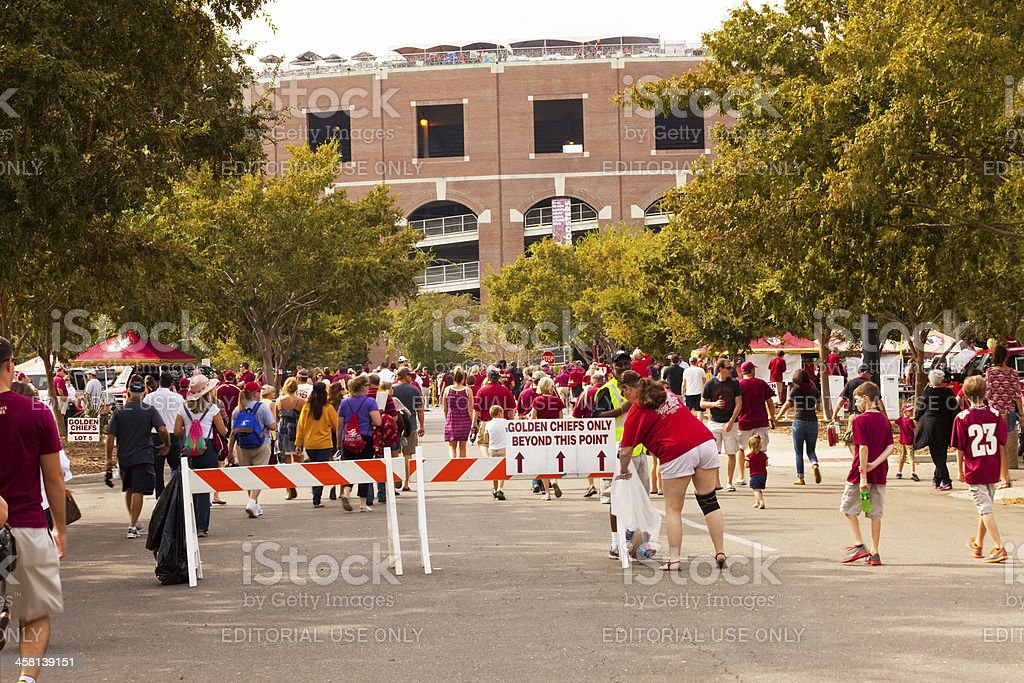 Fans at Doak Campbell Stadium stock photo
