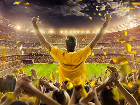 Fans at stadium