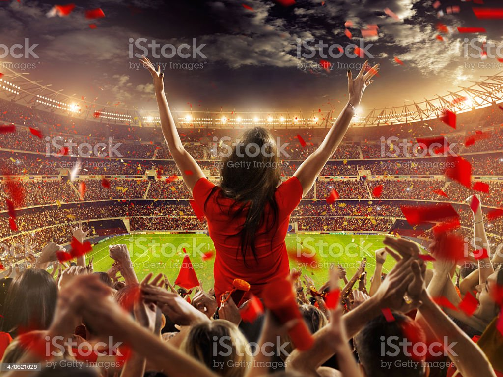 Fãs no estádio - foto de acervo
