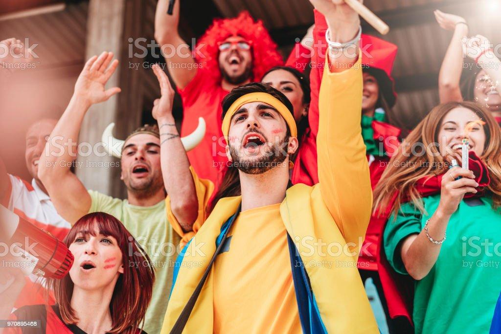 Fans at stadium together