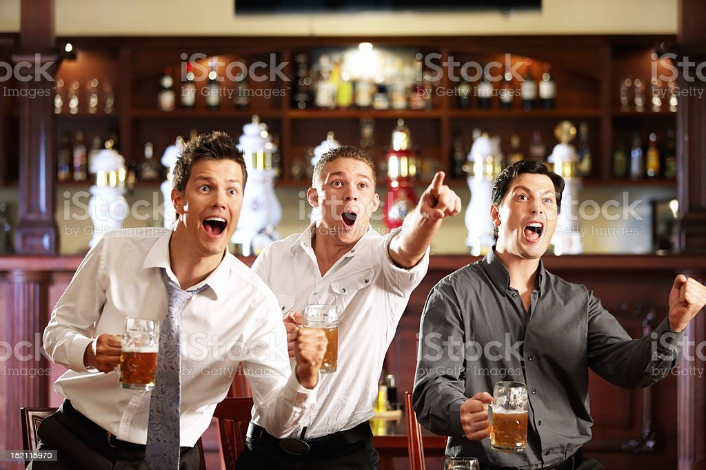 Fans at the pub royalty-free stock photo