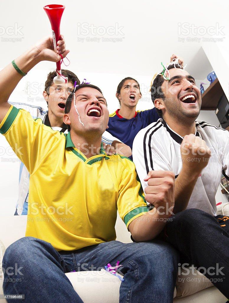 Fans celebration royalty-free stock photo