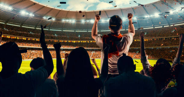 fans cheering for sports team - soccer competition stock photos and pictures