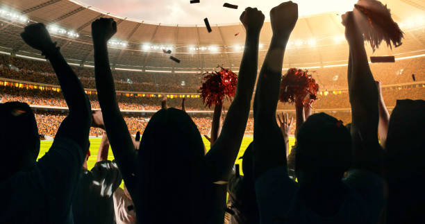 fans cheering for sports team - sports event stock photos and pictures