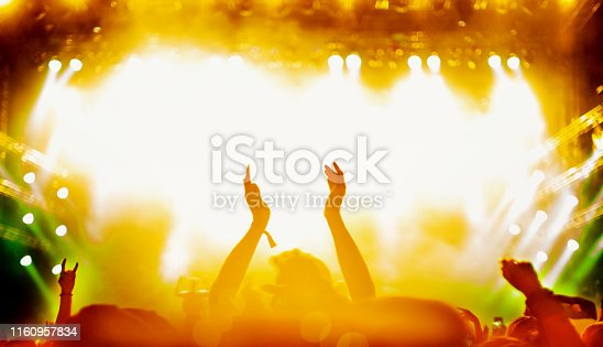 1069137774 istock photo Fans enjoying concert. 1160957834