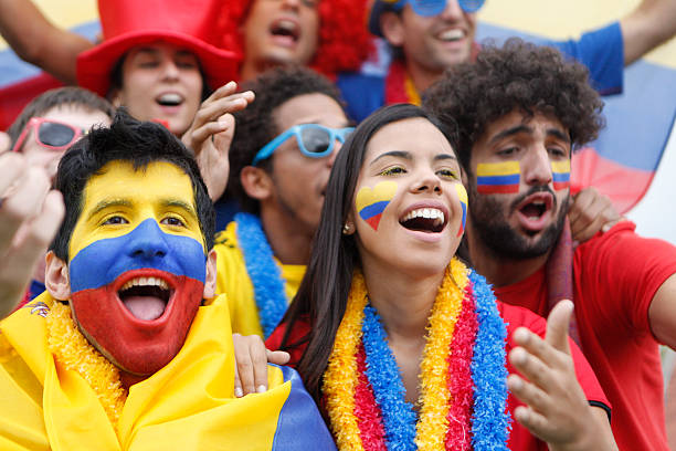 fans of colombia - colombia stock photos and pictures