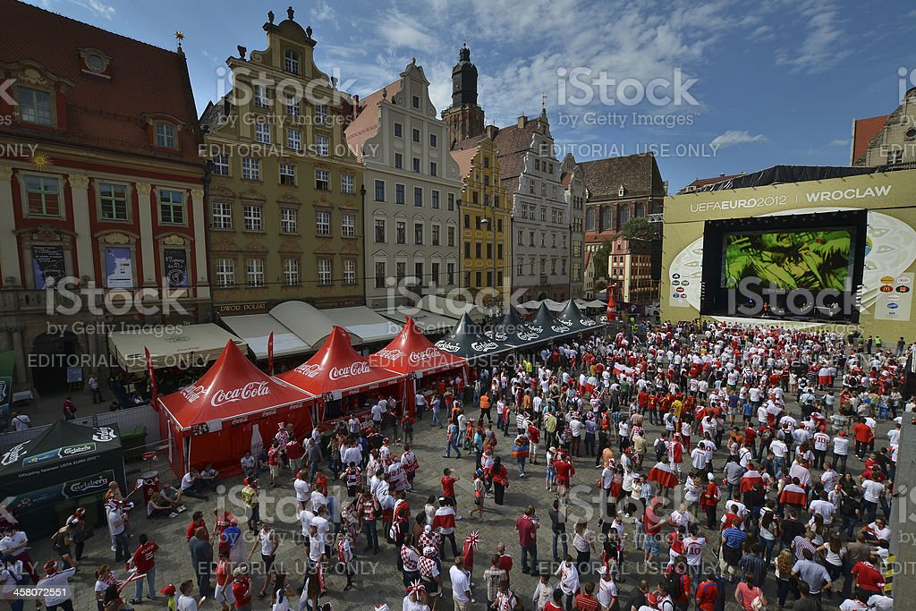 Fans of Euro 2012 stock photo