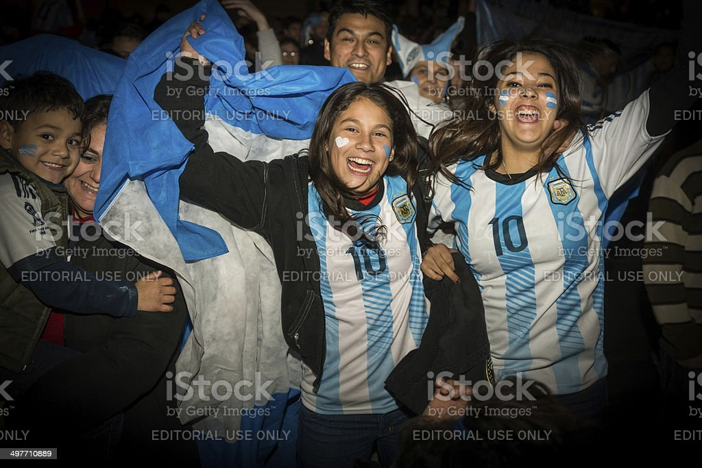 Fans of the World Cup meets after watching the match royalty-free stock photo