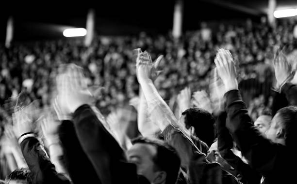 fans - audience clapping stock photos and pictures