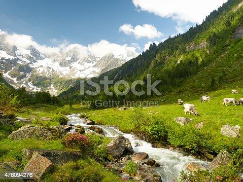magnificent alpine mountain scene
