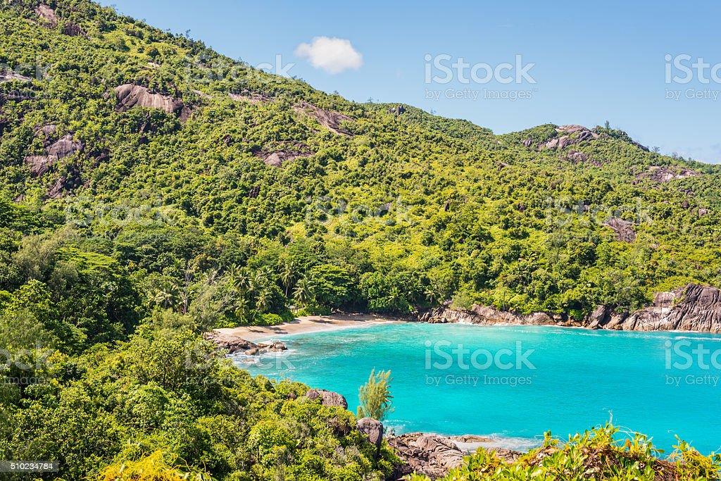 Fantastic Anse Major Beach - Mahe Island, Seychelles stock photo