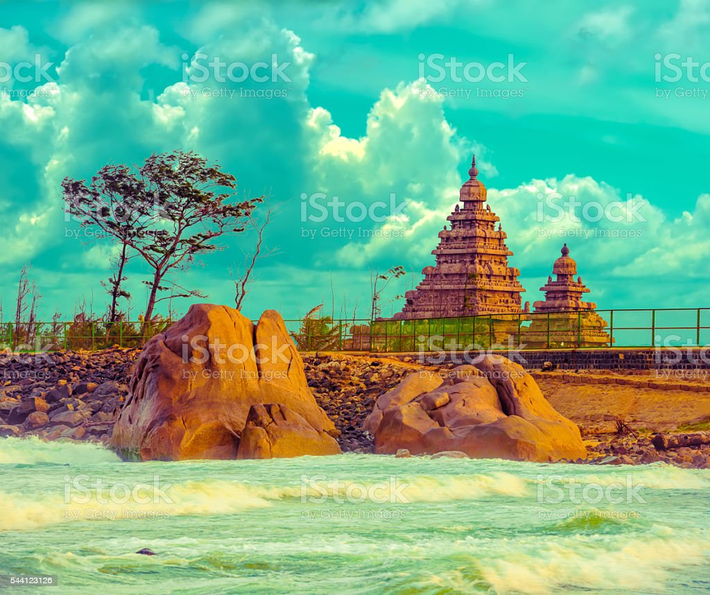 fantastic art design of beautiful landscape  monolithic famous stock photo