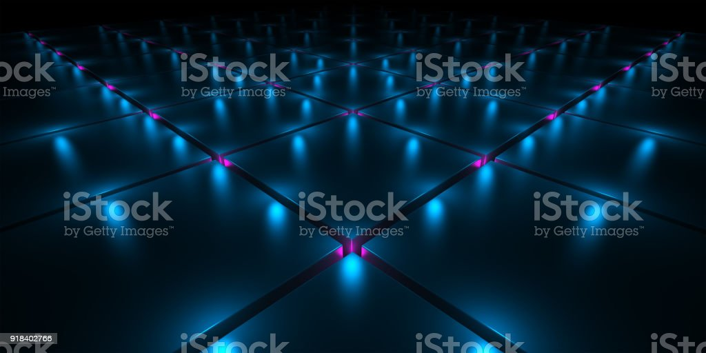 Fantastic background with spotlights stock photo