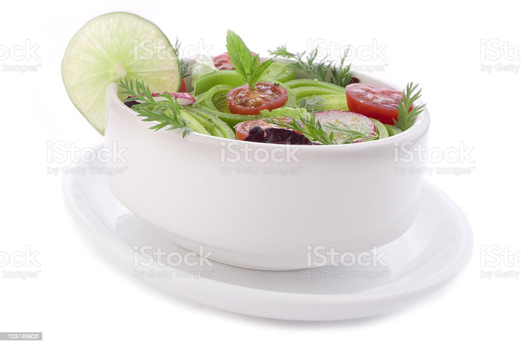 Fantastic bowl of spring salad royalty-free stock photo