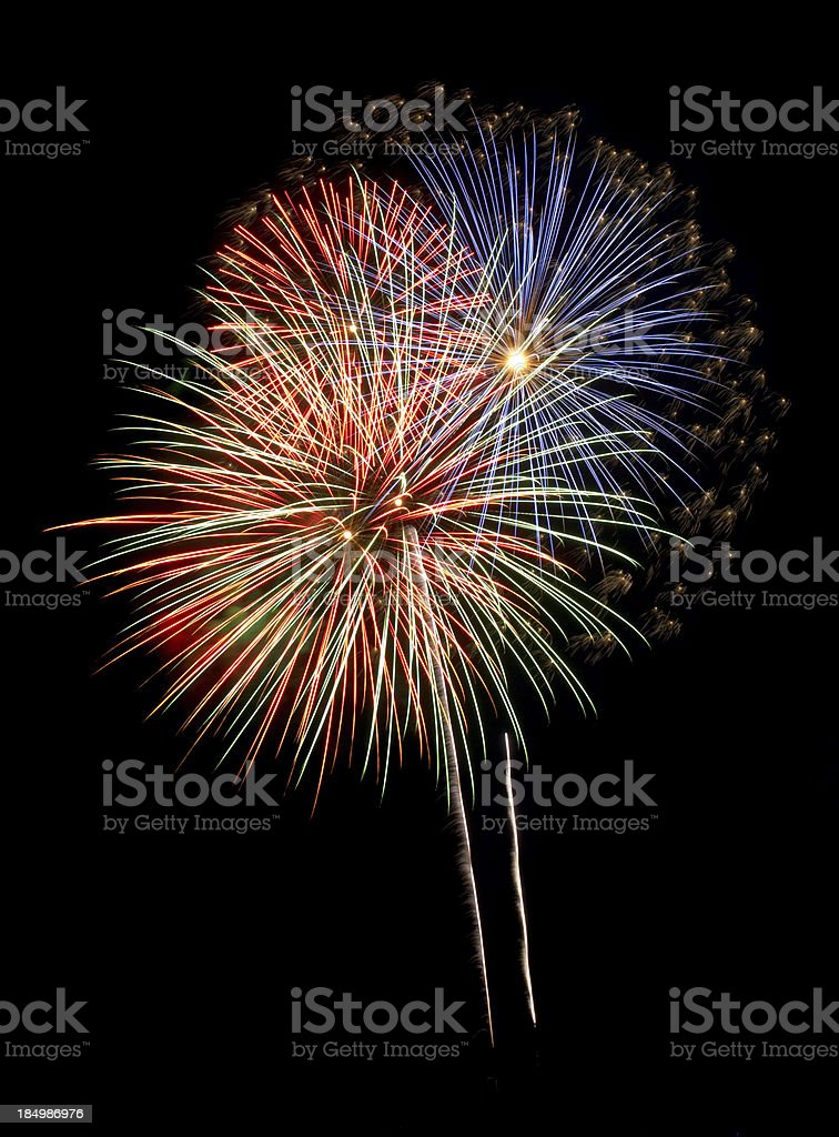 Fantastic Flock Fireworks Burst royalty-free stock photo